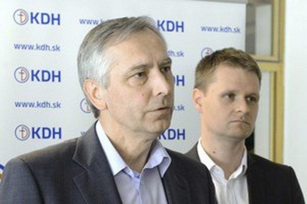 Ján Figeľ a Miloš Moravčík.
