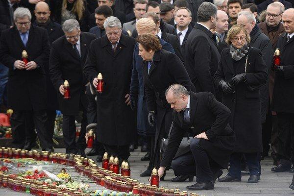Spomienka na obete Majdanu.