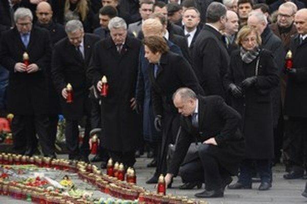 Kiska počas spomienky na obete Majdanu.