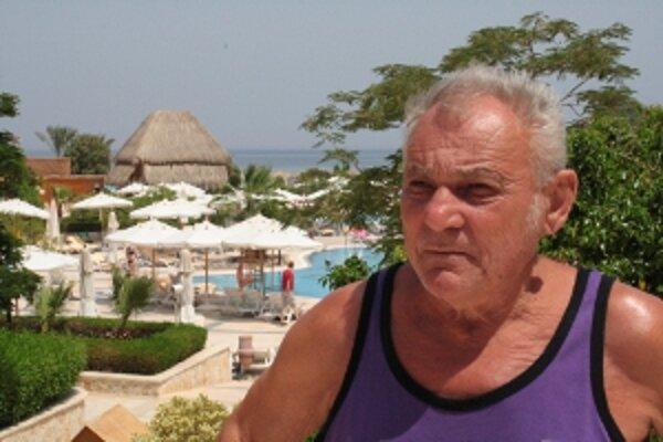 Dominik Hutta na dovolenke v Egypte.