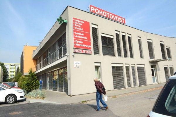 Pohotovosť v Košiciach. Jej spádovou oblasťou sú celé Košice aokolie.