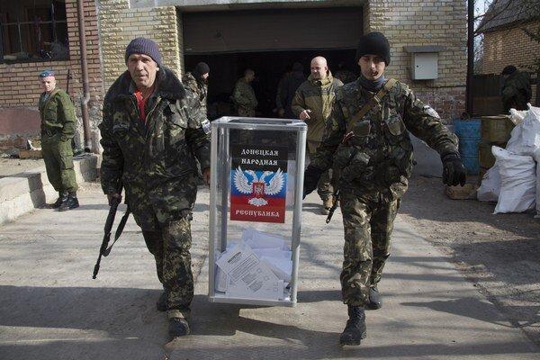 Voľby v Doneckej a Luhanskej oblasti.