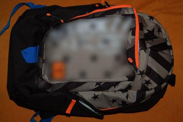 Ukradnutý ruksak.