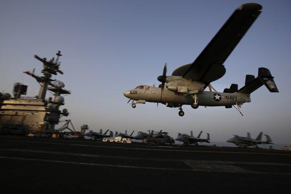Lietadlová loď USS George H.W. Bush v Perzskom zálive.