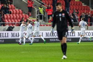 Slováci strelili Škótsku v Trnave tri góly.