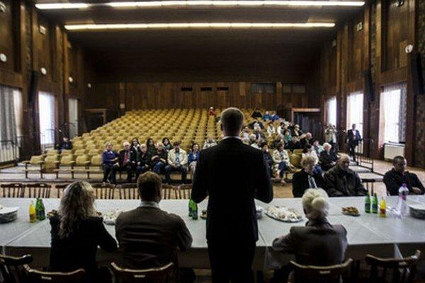 Míting strany TIP pred eurovoľbami.