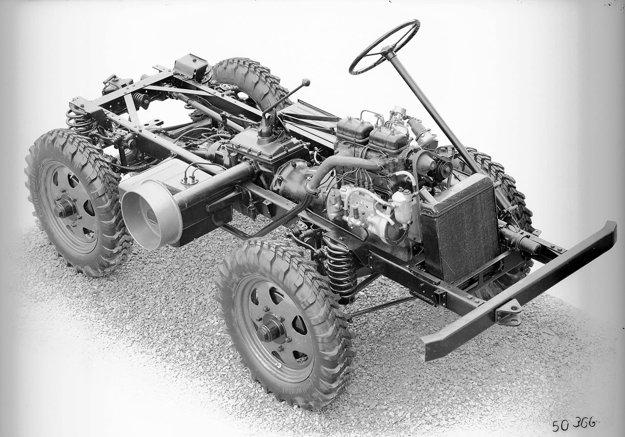 O základnej koncepcii vozidla sa rozhodlo v priebehu roka 1945