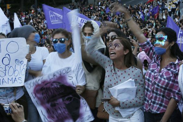 Protest žien v Argentíne.