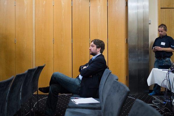 Ľuboš Blaha na programovej konferencii strany Smer.