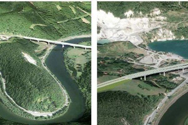 Po zosuve pôdy vkameňolome diaľnicu presunuli zľavej strany jazera na pravú.