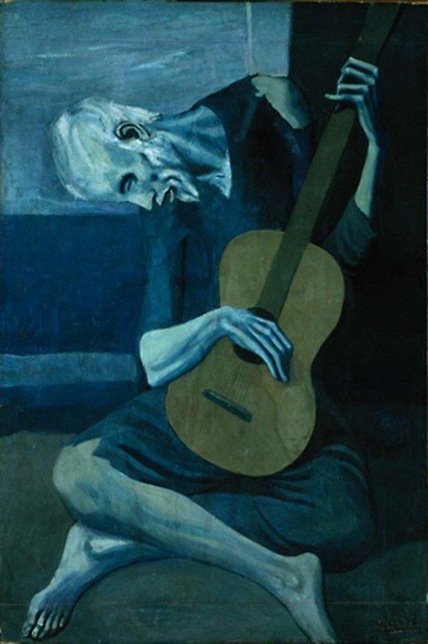 Starý gitarista, 1903