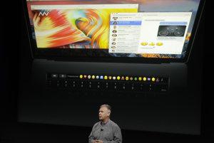 Touch Bar nahradí klávesy ESC a F1 až F12.