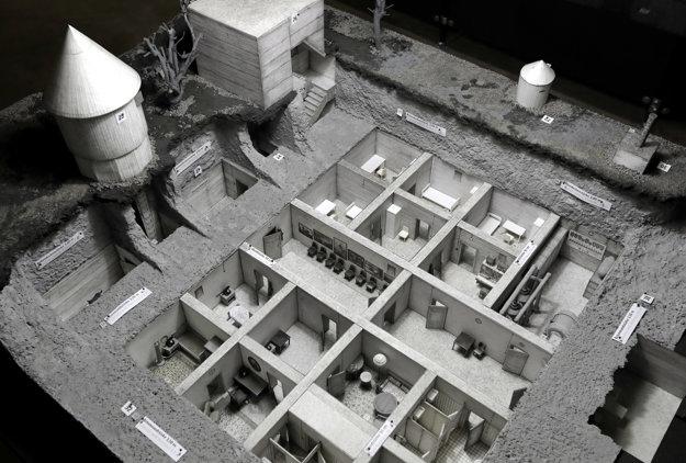 Vystavovaný model Hitlerovho bunkra.