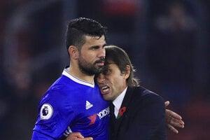 Costa je v tejto sezóne najväčšou hviezdou Chelsea, pred zápasom s Leicestrom sa však pohádal s trénerom Antonion Contem.