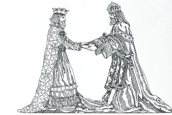 Stretnutie dvoch panovníkov.