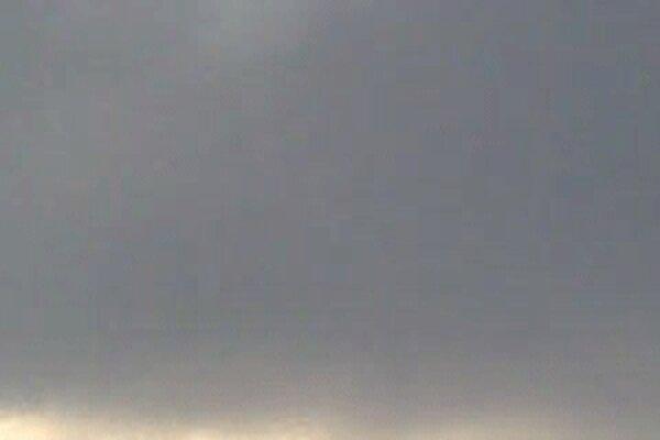 Čiastočné zatmenie Slnka nad Prievidzou.