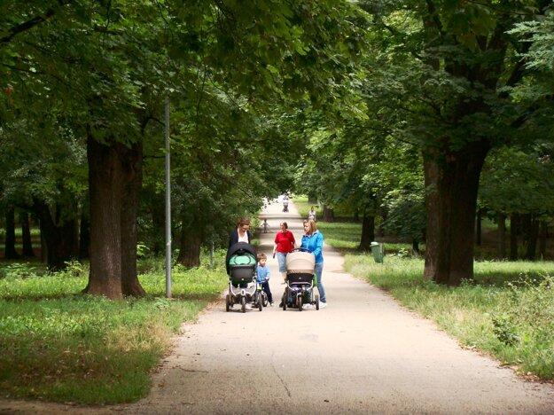 Park je aj frekventovanou trasou do Kamenného Mlyna.