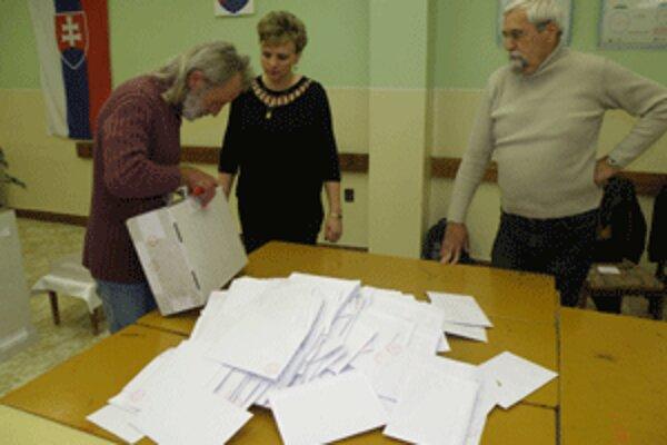 Sčítavanie hlasov začala v sobotu krátko po 20. hodine.