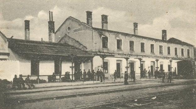 Železničná stanica v Medzilaborciach počas prvej svetovej vojny.