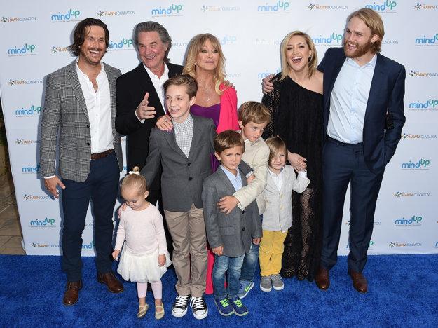 Goldie Hawn s deťmi a vnúčatami