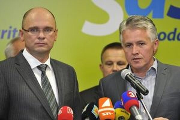 Richard Sulík a Jozef Kollár.