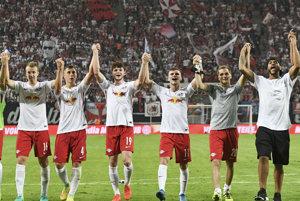 Hráči Lipska oslavujú víťazstvo (ilustračná foto).