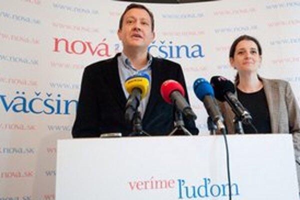 Daniel Lipšic a Jana Žitňanská zaregistrovali Novú väčšinu.