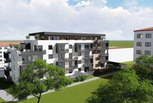 Zámer. Nová bytovka má stáť na sídlisku medzi blokmi pri ŠRC.