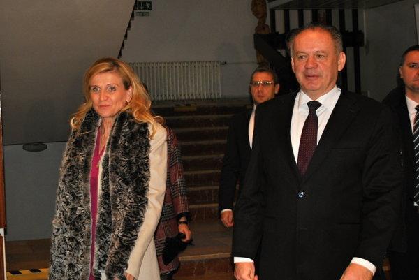 Andrej Kiska s primátorkou Janou Vaľovou.
