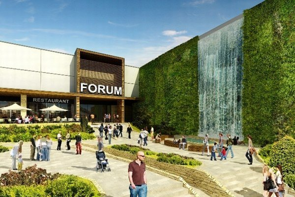 Obchodné centrum malo stáť už v roku 2009. Kríza spôsobila, že celý projekt niekoľko rokov stál. Väčšina priestorov je už dnes podľa developera prenajatá.