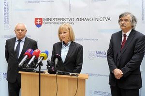 Brífing ministerky zdravotníctva Zuzany Zvolenskej.
