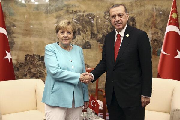 Turecký prezident Recep Tayyip Erdogan a nemecká kancelárka Angela Merkelová, ilustračná foto.