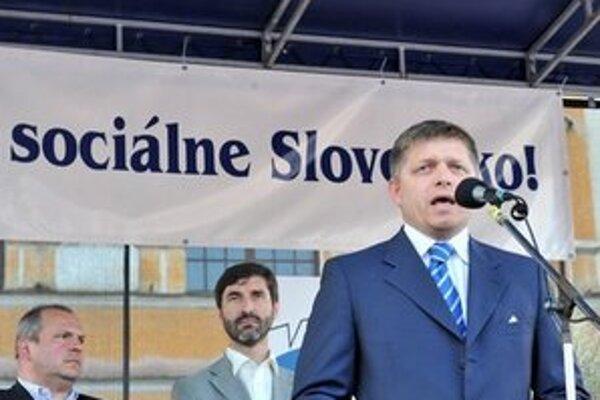 Fico na prvomájovom zhromaždení v Žiline.