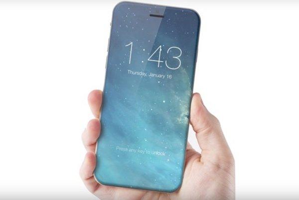Displej iPhone 8 môže pokrývať celú prednú stranu telefónu.