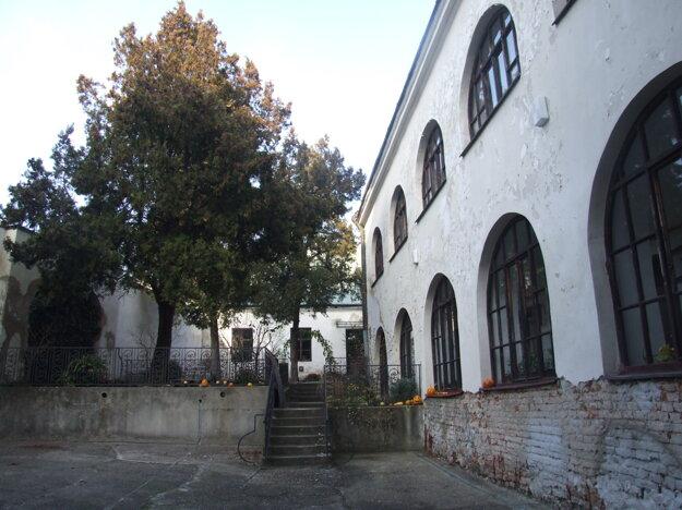 Dvor na Samovej, kde bývali letné čitárne.