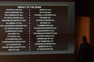 Žreb šestnásťfinále Európskej ligy.