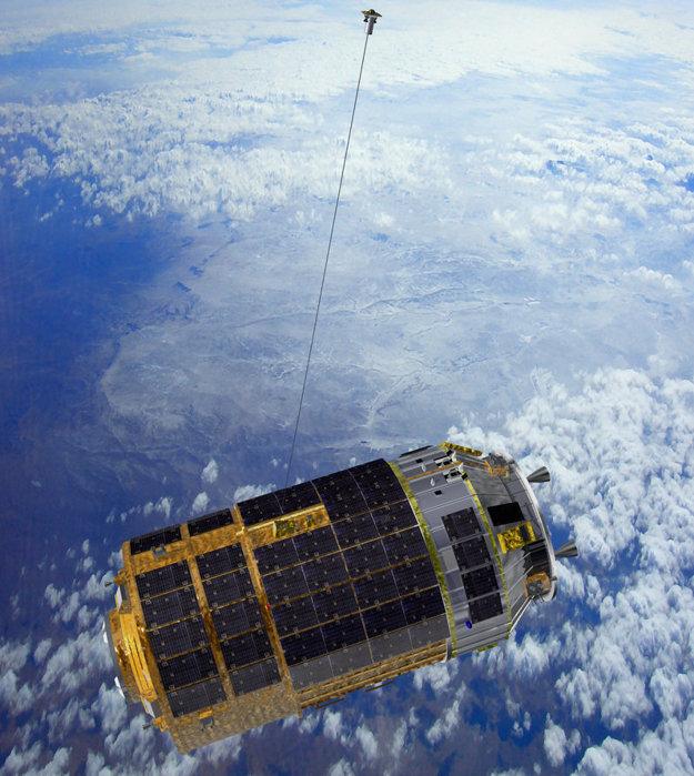 Koonotori 6 a ukážka technológie s káblom, ktorá ma pomôcť pri odstraňovaní odpadu z vesmíru.