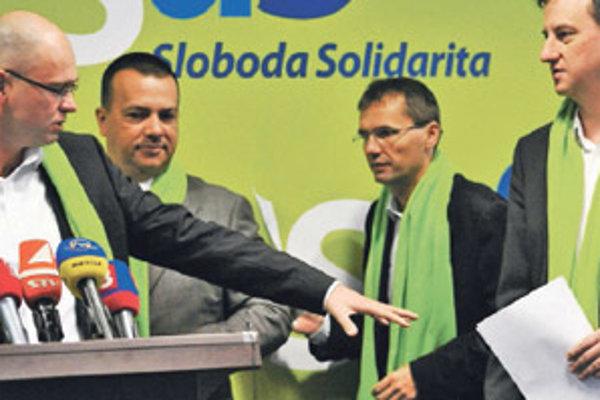 Richard Sulík a jeho najbližší – Juraj Miškov, Ľubomír Galko a Daniel Krajcer.