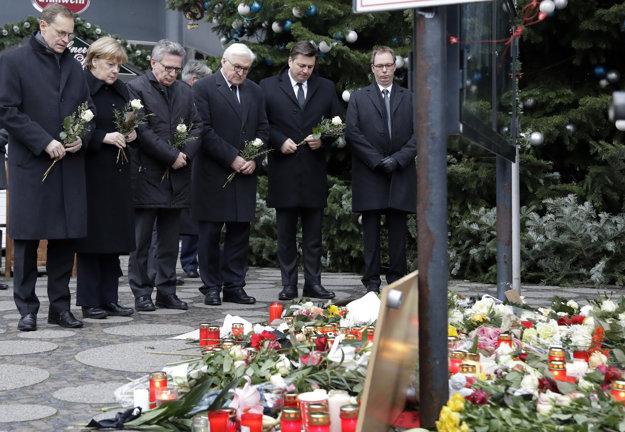 Kancelárka Merkelová si uctila obete útoku.