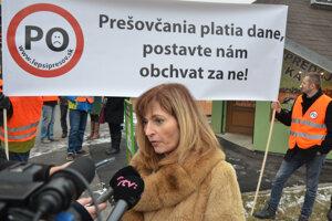 Primátorka Andrea Turčanová.