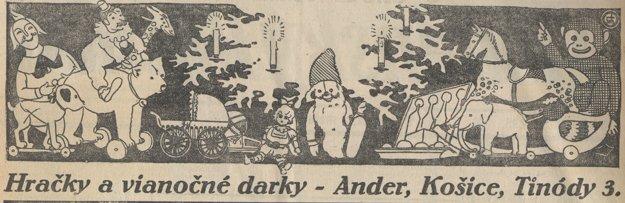 Vianočná reklama na hračky.