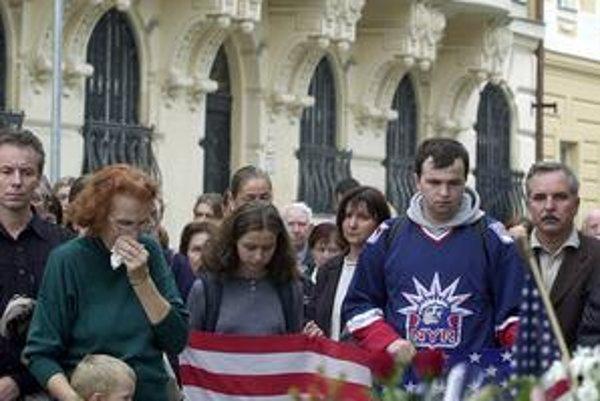 Americké veľvyslanectvo v Bratislave deň po útokoch.