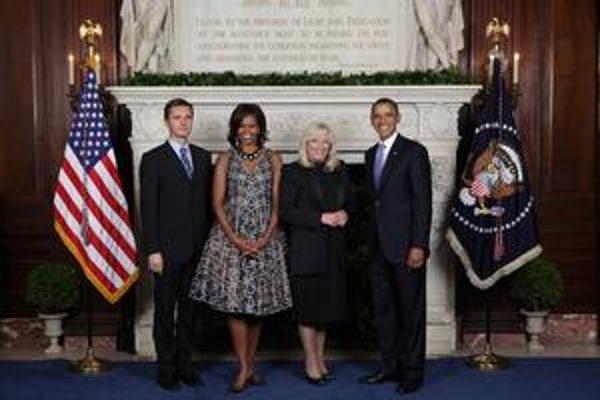 Americký prezidentský pár, Iveta Radičová a náš veľvyslanec pri OSN.