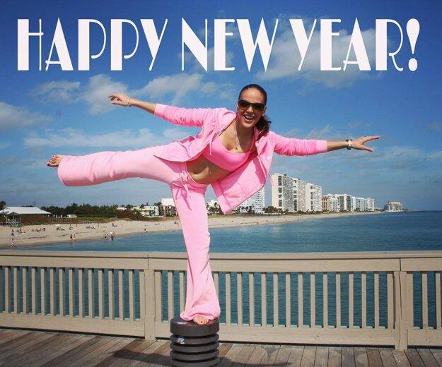 """Vidí to ružovo? Karin Haydu zverejnila optimistickú PF so želaním: """"Šťastný nový rok všetkým a všade. Lásku, zdravie, radosť."""""""