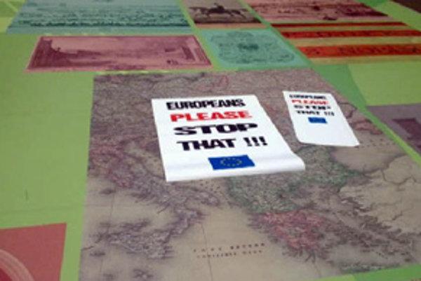 Hlinovi prekážal koberec s mapou Uhorska.
