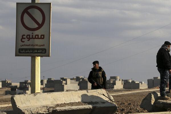 Iracké jednotky v oslobodených častiach Mósulu.