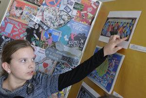 Klaudia Berdisová, jedna z autorov najlepšej protidrogovej nástenky žiakov Základnej školy v Sedliciach.