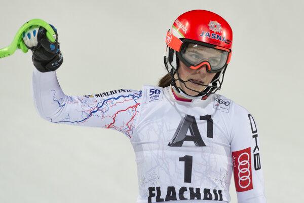 Petra Vlhová slalom vo Flachau nedokončila.