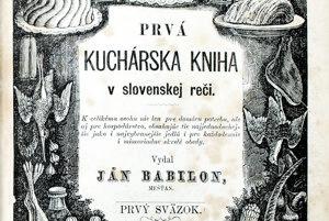Titulná strana Prvej kuchárskej knihy v slovenskej reči. Originál je uložený v Knižnici múzea Ľudovíta Štúra v Modre.