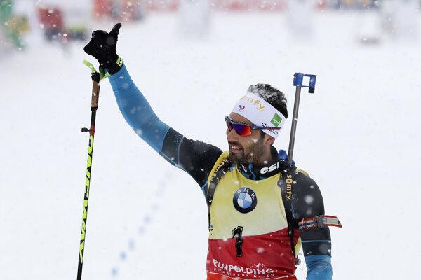 Martin Fourcade sa tešil z ďalšieho víťazstva.